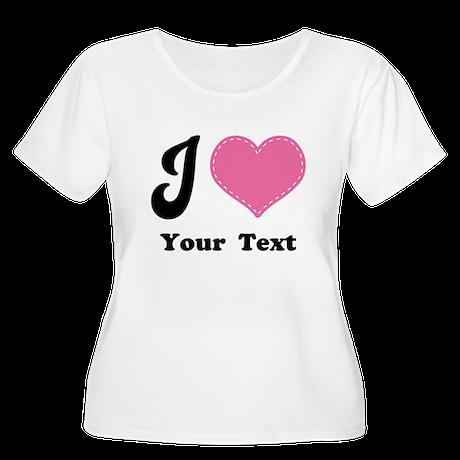 Personalized Love Heart Women's Plus Size Scoop Ne