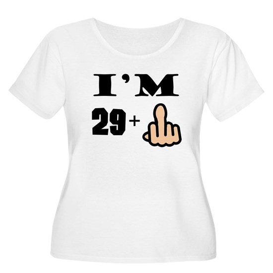 fff39901c0 ... Women's Plus Size Scoop Neck T-Shirt. Middle Finger 30th Birthday