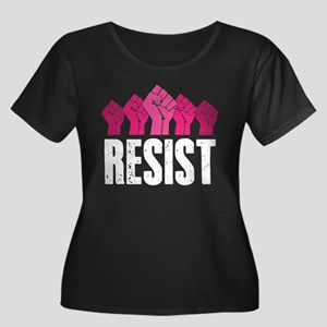Resist Women's Plus Size Scoop Neck Dark T-Shirt