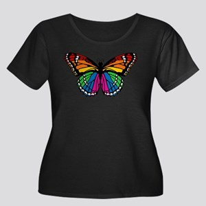 Rainbow Butterfly Plus Size T-Shirt