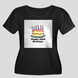 Happy 24th Birthday Women's Plus Size Scoop Neck D