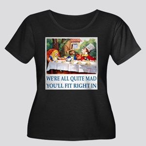 WE'RE ALL QUITE MAD Women's Plus Size Scoop Neck D