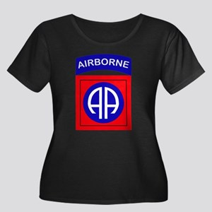 82nd Air Women's Plus Size Scoop Neck Dark T-Shirt