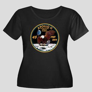 Apollo 1 Women's Plus Size Scoop Neck Dark T-Shirt