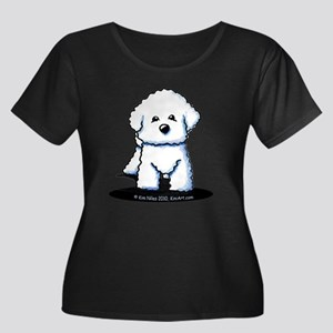 Bichon Frise II Women's Plus Size Scoop Neck Dark