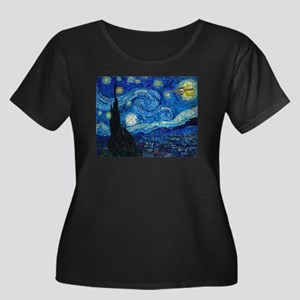 Starry Trek Night Women's Plus Size Scoop Neck Dar