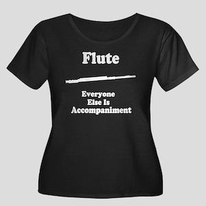 Flute Women's Plus Size Scoop Neck Dark T-Shirt