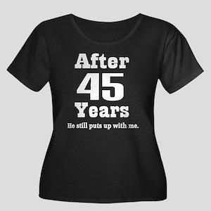 45th Anniversary Funny Quote Women's Plus Size Sco