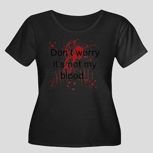 Not my b Women's Plus Size Dark Scoop Neck T-Shirt