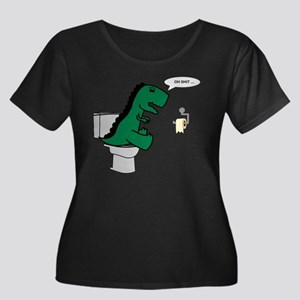 Oh Shit ... Women's Plus Size Dark V-Neck T-Shirt
