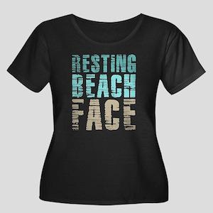 Resting Women's Plus Size Scoop Neck Dark T-Shirt
