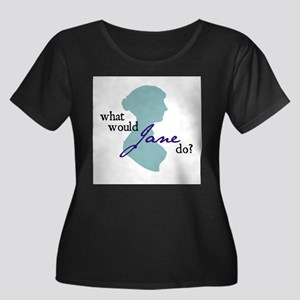 Women's Plus Size Scoop Neck Dark T-Shirt