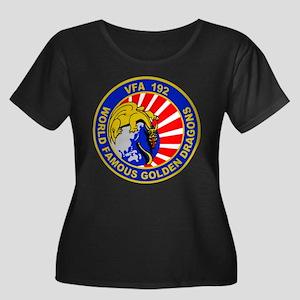 VFA-192 Women's Plus Size Scoop Neck Dark T-Shirt