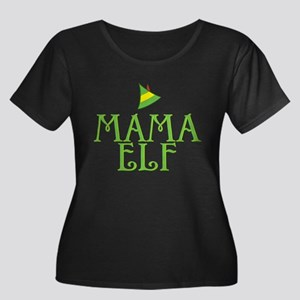 Mama Elf Women's Dark Plus Size Scoop Neck T-Shirt
