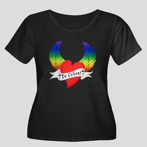 Winged Heart De Colores Plus Size T-Shirt