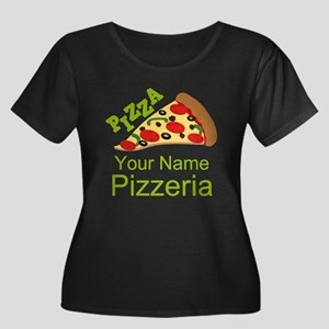 Personalized Pizzeria Plus Size T-Shirt