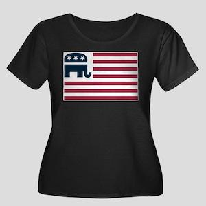 GOP Flag Plus Size T-Shirt