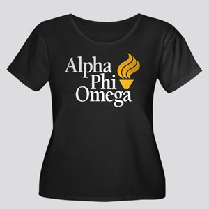 Alpha Ph Women's Plus Size Scoop Neck Dark T-Shirt