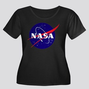 NASA Meatball Logo Women's Plus Size Scoop Neck Da