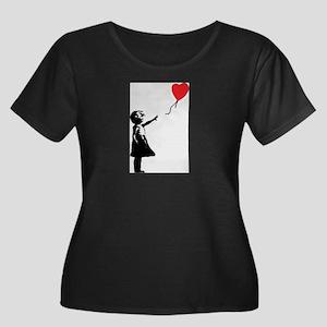 Banksy - Little Girl with Ballon Plus Size T-Shirt