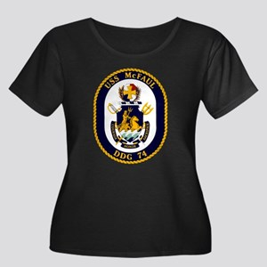 USS McFa Women's Plus Size Scoop Neck Dark T-Shirt