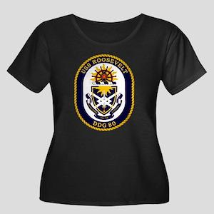 DDG 80 Women's Plus Size Scoop Neck Dark T-Shirt
