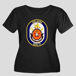 USS Ross Women's Plus Size Scoop Neck Dark Tee