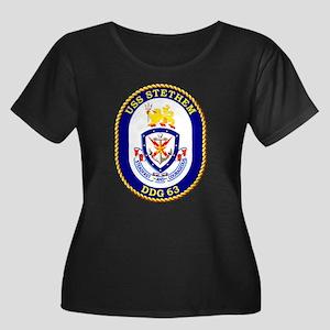 USS Stethem Women's Plus Size Scoop Neck Dark Tee