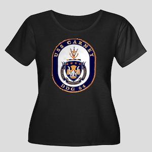 USS Carney Women's Plus Size Scoop Neck Dark Tee