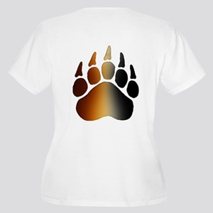 BEAR Paw 2 - Women's Plus Size V-Neck T-Shirt