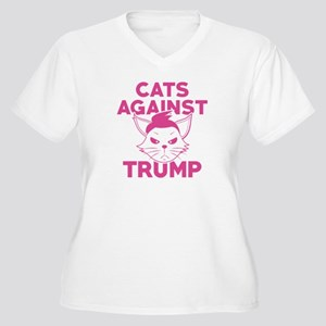 Cats Against Trump Women's Plus Size V-Neck T-Shir