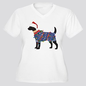 Black Lab Ugly Christmas Sweater Women's Plus Size