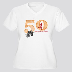 50 Mile Ladies Plus Size V-Neck T-Shirt