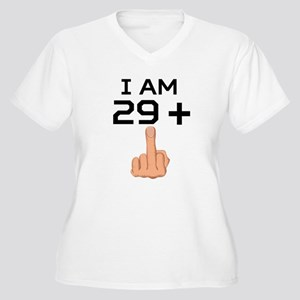 29 Plus Middle Finger 30th Birthday Plus Size T-Sh