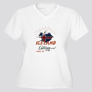 Iceland is calling Plus Size T-Shirt