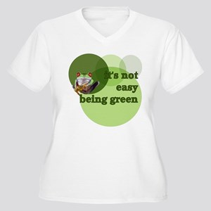 It's Not Easy Being Green Women's Plus Size V-Neck