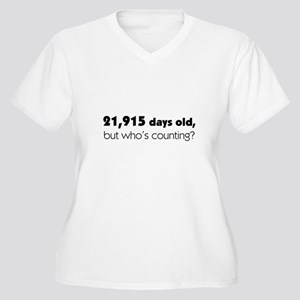 60th Birthday Women's Plus Size V-Neck T-Shirt