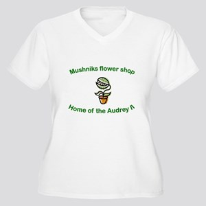 Mushniks Women's Plus Size V-Neck T-Shirt