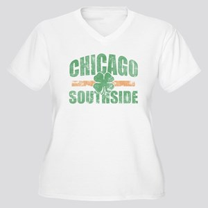 Chicago Southside Irish Women's Plus Size V-Neck T