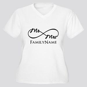 Custom Infinity M Women's Plus Size V-Neck T-Shirt