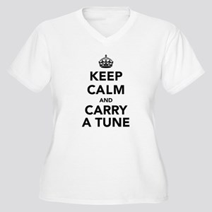 Keep Calm and Car Women's Plus Size V-Neck T-Shirt