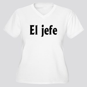 El jefe (The Boss) Women's Plus Size V-Neck T-Shir
