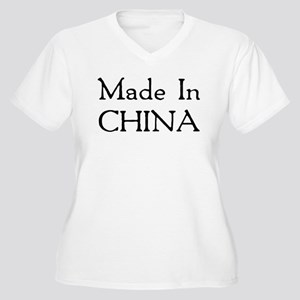 Made In China Women's Plus Size V-Neck T-Shirt
