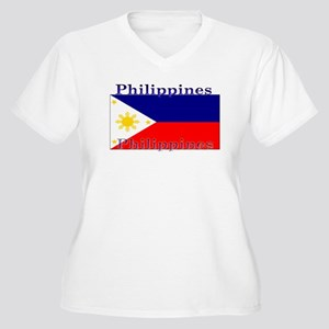 Philippines Women's Plus Size V-Neck T-Shirt
