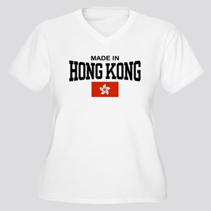 Made in Hong Kong Women's Plus Size V-Neck T-Shirt