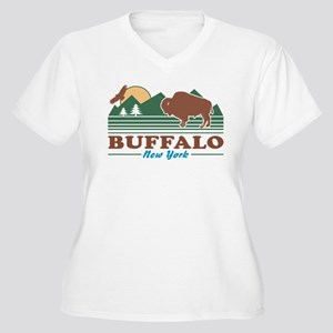 Buffalo New York Women's Plus Size V-Neck T-Shirt