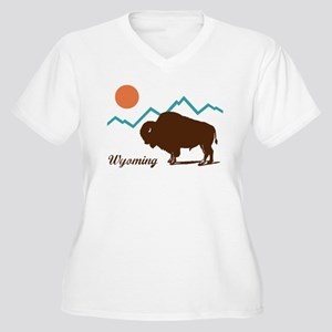 Wyoming Women's Plus Size V-Neck T-Shirt