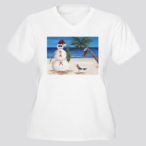 Christmas Beach Sandman Plus Size T-Shirt