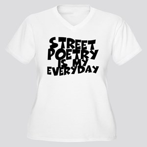 Street Poetry Is My Everyday Women's Plus Size V-N