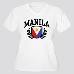 Manila Philippines Women's Plus Size V-Neck T-Shir